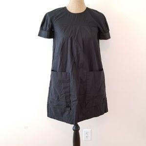 Theory Black Pocket Smock Dress